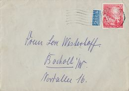 Bund Brief EF Minr.112 Bremen 29.3.50 - Cartas