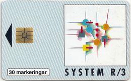 Sweden - Telia - System R-3 #2 - 04.1995, 30U, 2.000ex, Used - Sweden