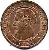 FRANCE - 1 C Napoléon III  1854 MA - France