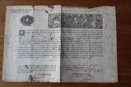 1729   Commissions  De Marchands De Poudre  à Giboyer  Pour La Ville De Toulouse  Belle Vignette - Documentos Históricos