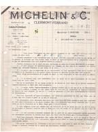 Un  Document :     Michelin  & Cie    Clermont - Ferrand     Année 1932 - 1900 – 1949