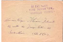Env  Griffe NA PAS TAXER  TAXE PERCUE MANQUE TIMBRE Verso Cad  SAINTE  MARIE JUIN 1940 (cote D Or) TTB - Postmark Collection (Covers)