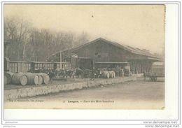 LANGON GARE DES MARCHANDISES CPA 1904 BON ETAT - Stations With Trains