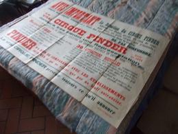 Affiche Le Vrai Cirque Pinder Avis Important - Affiches