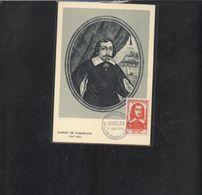 Carte Maximum Champlain 1956 - 1950-59