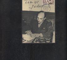 Carte Maximum  Marechal De Lattre De Tassigny 1955 - Maximum Cards