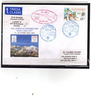 044-SLOVAKIA 2002-WINTER OLYMPIC GAMES SALT LAKE CITY-COVER -RETUR - Winter 2002: Salt Lake City