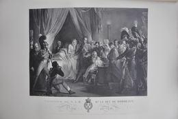 GRAVURE 928 / NAISSANCE DU DUC DE BORDEAUX Par ETIENNE FREDERIC LIGNON Né à PARIS - Prints & Engravings
