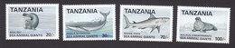 Tanzania, Scott #950-953, Mint Hinged, Marine Life, Issued 1992 - Tansania (1964-...)