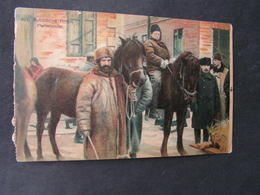 Russland Karte Pferdehändler Feldpost 1917 - Russland