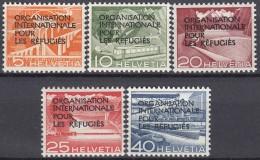 SCHWEIZ  Dienst OIR/IRO 1-5, 1-3+5 Postfrisch **, Mit Aufdruckfehler I, 1950 - Dienstpost