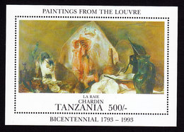 Tanzania, Scott #995, Mint Never Hinged, Art Of The Louvre, Issued 1993 - Tanzania (1964-...)