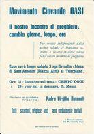 MOVIMENTO GIOVANILE OASI IL NOSTRO INCONTRO DI PREGHIERA CAMBIA GIORNO PADRE VIRGILIO ROTONDIPIAZZA ASTI AL TUSCOLANO - Italia