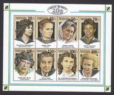 Tanzania, Scott #998, Mint Never Hinged, Famous Women, Issued 1993 - Tanzania (1964-...)
