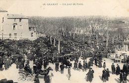 46//LOT. GRAMAT //UN JOUR DE Marché::TRES ANIMEE// CIRCULEE TAMPON HOPITAL N73 GRAMAT MAI 1915 - Gramat