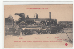 CPA-LOCOMOTIVEs (Cie De L'Ouest)Machine Pour Trains De Voyageurs, Construite En 1888-TBE-cheminot - Spoorwegen