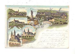 6400 FULDA, Lithographie, 6-teilig, 1898, Bahnpost - Fulda