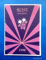 PETIT CALENDRIER 1990 -  ROSE DE  PASSION GIOVANI -  Coiffure Marie Claude 79730 Celles Sur Belle - Tamaño Pequeño : 1981-90