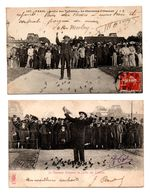 """75 - PARIS . JARDIN DES TUILERIES . """" LE CHARMEUR D'OISEAUX """" . 2 CARTES POSTALES - Réf. N°8077 - - Überschwemmung 1910"""