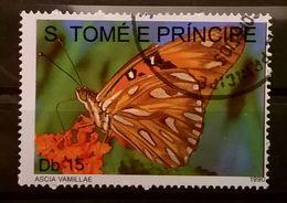 FRANCOBOLLI STAMPS SAO TOME E PRINCIPE 1990 SERIE FARFALLE - Sao Tomé E Principe
