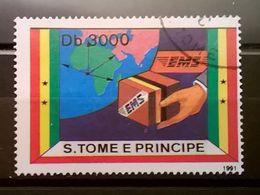 FRANCOBOLLI STAMPS SAO TOME E PRINCIPE 1991 EMS EXPRESS MAIL SERVICE - Sao Tomé E Principe