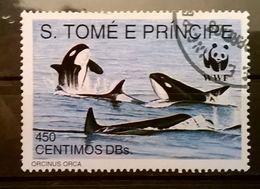 FRANCOBOLLI STAMPS SAO TOME E PRINCIPE 1992 SERIE PROTEZIONE DELLA NATURA - Sao Tomé E Principe