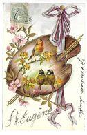 PRENOM - EUGENE - Carte Gaufrée - Oiseaux - Prénoms