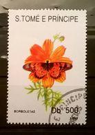 FRANCOBOLLI STAMPS SAO TOME E PRINCIPE 1993 SERIE POLLINAZIONE FARFALLE - Sao Tomé E Principe
