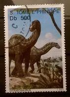 FRANCOBOLLI STAMPS SAO TOME E PRINCIPE 1993 SERIE ANIMALI PREISTORICI DINOSAURI - Sao Tomé E Principe