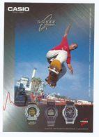 CPM Publicitaire Montres CASIO G SHOCK Ligne Sport Skate Bord - Ed Hot Card Asie - Moda