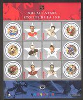Canada 2001 Selection Player Of The North American Ice Hockey League (NHL), Mi 1957-1962 In Bloc 55, MNH(**) - 1952-.... Règne D'Elizabeth II