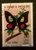 FRANCOBOLLI STAMPS SAO TOME E PRINCIPE 1996 SERIE 50° UNESCO FARFALLE - Sao Tomé E Principe