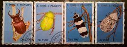 FRANCOBOLLI STAMPS SAO TOME E PRINCIPE 1996 SERIE COMPLETA INSETTI RARA - Sao Tomé E Principe