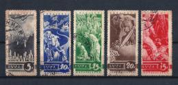 URSS331) 1935 -Propaganda Contro La Guerra - Serie Cpl 5val. USED - 1923-1991 URSS