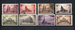 URSS334) 1937 - Congresso Architetti Sovietici- Serie Cpl 8val  5val MNH** - Nuovi