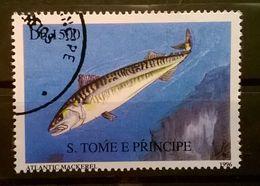 FRANCOBOLLI STAMPS SAO TOME E PRINCIPE 1996 SERIE PESCI - Sao Tomé E Principe