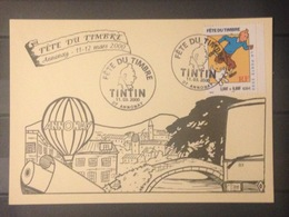 Carte - Fête Du Timbre 2000 - Tintin - France