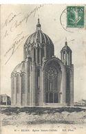 95. REIMS . EGLISE SAINTE-CLOTILDE AFFR LE 3-4-1914 SUR RECTO - Reims