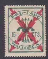 LOTE 1675  ///  (C105) MALLORCA PRO-PARO Nº 3 PAPEL BLANCO SIN Nº DE SERIE - Viñetas De La Guerra Civil