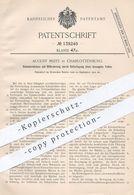 Original Patent - August Mlitz , Berlin / Charlottenburg , 1901 , Schmierbüchse Mit Ölförderung | Öl , Schmieröl , Öle - Historische Dokumente