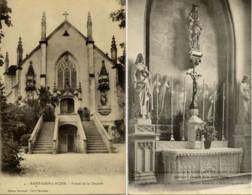 52 SAINT-LOUP-SUR-AUJON (194 Hab.) - Lot De 2 Cartes : Portail De La Chapelle Et Intérieur Chapelle De La Sainte Vierge - France