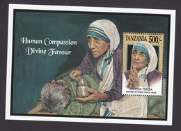 Tanzania, Scott #999, Mint Never Hinged, Mother Teresa, Issued 1993 - Tanzania (1964-...)