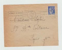 """LSC 1939.- Flamme """"Monnaie De Paris Voyez Son Musée Ses Médailles"""" - Marcophilie (Lettres)"""