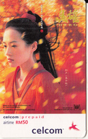MALAYSIA - Hero/Ziyi Zhang, Celcom Prepaid Card RM50, Exp.date 31/01/04, Used - Cinema