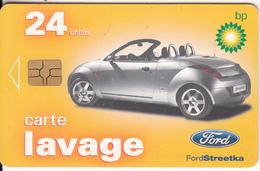 FRANCE - Ford Streetka, BP Carte Lavage 24 Units, Used - Olie