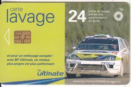 FRANCE - Car, BP Carte Lavage 24 Units, Used - Olie