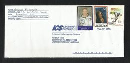 Jamaica Air Mail Postal Used Cover Jamaica To USA First Manned Moon Landing Space Olympic Game Sport - Jamaica (1962-...)