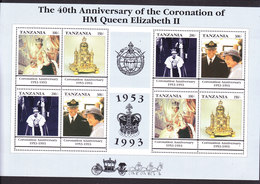 Tanzania, Scott #996, Mint Never Hinged, Queen Elizabeth, Issued 1993 - Tanzania (1964-...)