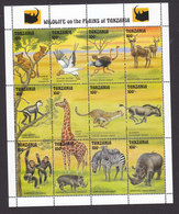 Tanzania, Scott #1001M, Mint Never Hinged, Wildlife, Issued 1993 - Tanzania (1964-...)