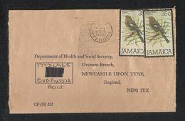 Jamaica Air Mail Postal Used Cover Jamaica To UK Birds Bird Animal - Jamaica (1962-...)